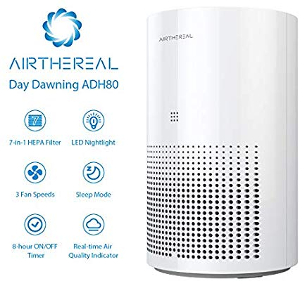 Airthereal with 7-in-1 True HEPA for Home Desktop and Car