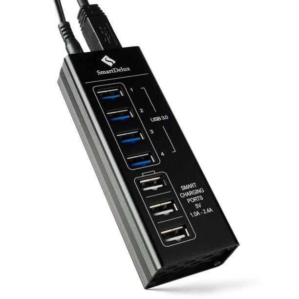 SmartDelux Powered 7-Port USB 3.0 Hub